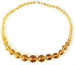 10107 Amber Crystal Bead Necklace
