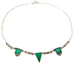 10184 Art Deco Chrysoprace Necklace