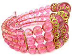 10249 Vintage Rose Glass Bracelet