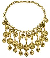 10427 Vintage Etruscan Style Necklace