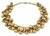 10429 Brass Jingle Ball Necklace