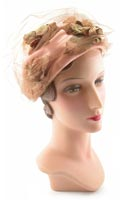 10523 1960s Easter Sunday Hat