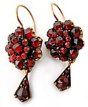 10661 Victorian Bohemian Garnet Earrings