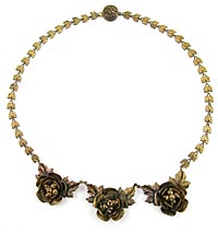 10705 Victorian Brass Roses Necklace