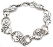 10707 Danecraft Silver Wheat Bracelet