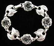 10708 Danecraft Silver Roses Bracelet