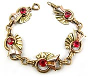 10715 Art Deco Gold Filled Bracelet