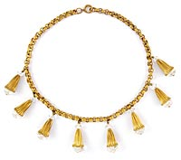10774 Victorian Crystal Fringe Necklace