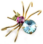 10781 Vintage Austrian Spider Pin