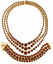 10795 Carnegie Red Rhinestone Set