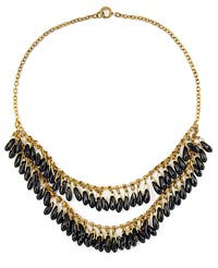 10803 1920s French Jet Fringe Necklace