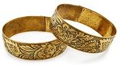 10809 Victorian Engraved Bracelet Set