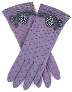 Vintage 1950s Beaded Purple Dress Gloves :  beaded 1950s purple gloves