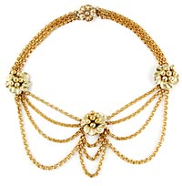10828 Victorian Floral Festoon Necklace