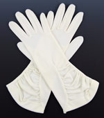 10832 1950s Ivory Rayon Dress Gloves