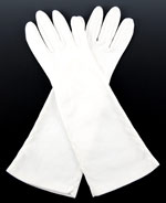 10854 Long White Evening Gloves