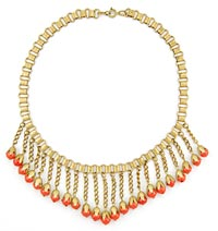 10879 Antique victorian Fringe Necklace