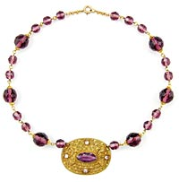 10886 Victorian Amethyst Glass Bead Choker