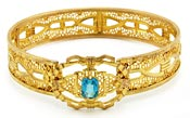 10955 1930s Gold Filigree Bracelet