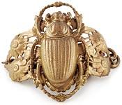 10965 1960s Gold Scarab Bracelet