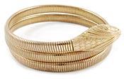 10971 Vintage Forstner Gold Snake Bracelet