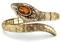 20038 1930s Art Deco Gold Snake Bracelet