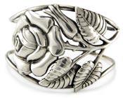 20047 Danecraft Sterling Silver Rose Cuff Bracelet