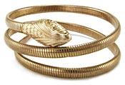 20057 Vintage 1940s Forstner Gold Filled Snake Bracelet